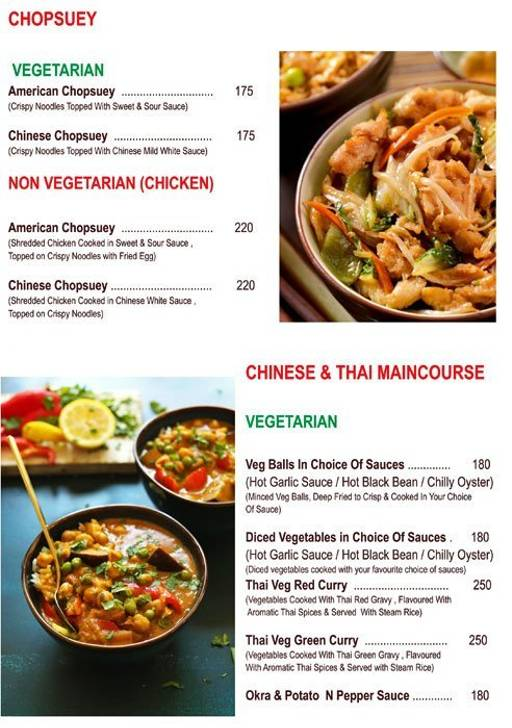 Food Menu 4 - Chef's Bank, Yeshwantpur, Bangalore