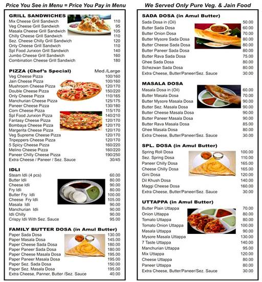 Menu 2 - New Food Junxion, Mira Road, Mumbai