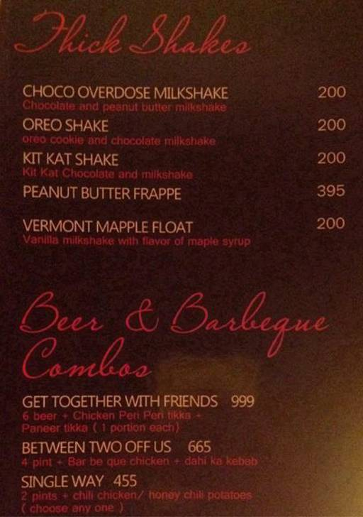 Menu 24 - Take Off Scarlet, Punjabi Bagh, New Delhi