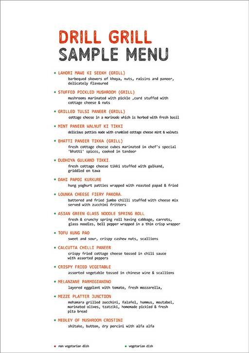 Food Menu 6 of The Grill Mill, DLF Cyber City, Gurgaon