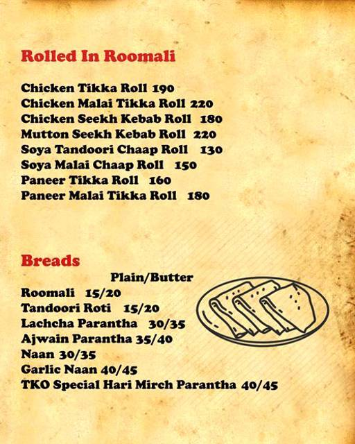 Menu 5 - Tandoori Knockouts, DLF Phase 4, Gurgaon