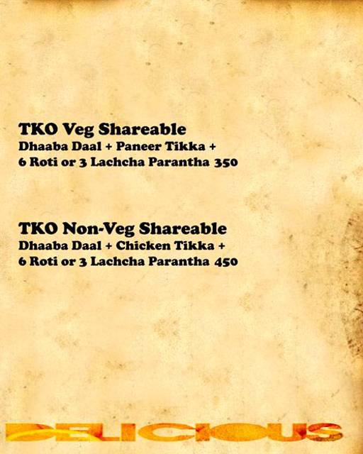 Menu 6 - Tandoori Knockouts, DLF Phase 4, Gurgaon