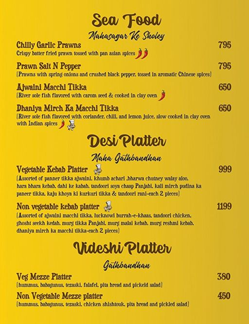 Menu 10 - Ardor 29, Sector 29, Gurgaon