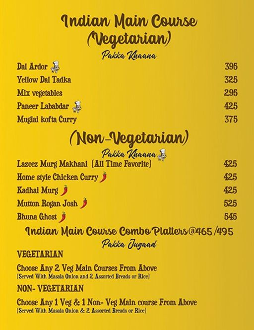 Food Menu 13 of Ardor 29, Sector 29, Gurgaon