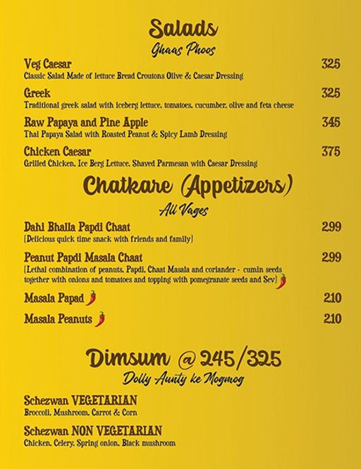 Food Menu 2 of Ardor 29, Sector 29, Gurgaon